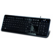 Genius Slimstar i250 Deluxe Multimedia Keyboard, Black