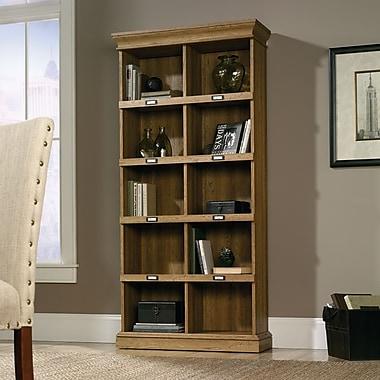 Sauder Barrister Lane Tall Bookcase, Scribed Oak (414725)