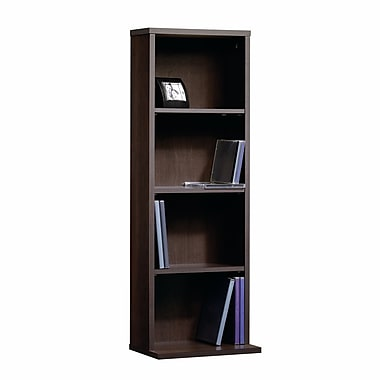 Sauder Beginnings Multi-Media Storage Tower, Cinnamon Cherry