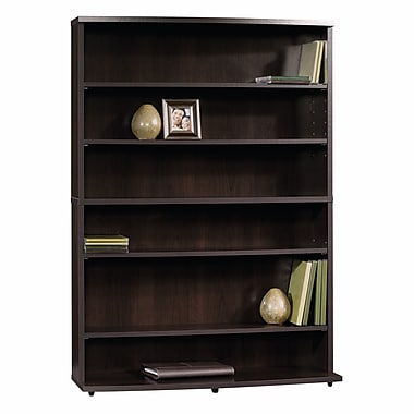 Sauder Beginnings Multi-Media Storage Tower with 4-Adjustable Shelves, Cinnamon Cherry