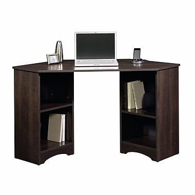 Sauder Corner Desk, Cinnamon Cherry