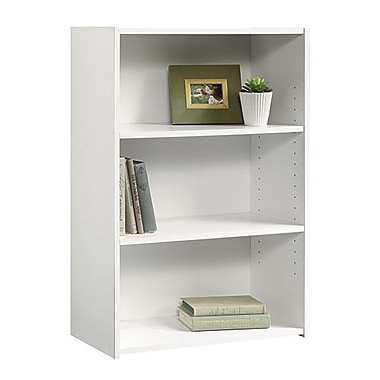 Sauder 3-Shelf Bookcase, Soft White
