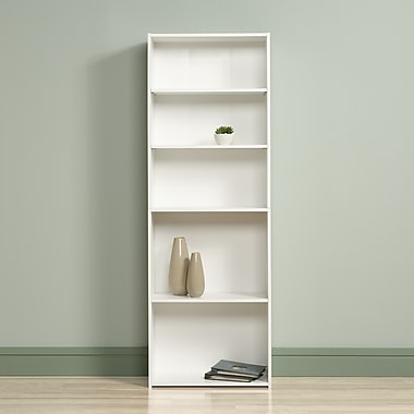Sauder 5-Shelf Bookcase, Soft White