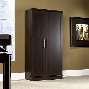 Sauder Home Plus Storage Cabinet with Two Adjustable Shelves, Dakota Oak