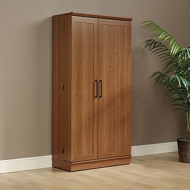 Sauder Home Plus Storage Cabinet, Large, Sienna Oak Finish