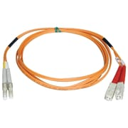 Tripp Lite® 10m Fiber Optic LC Male/SC Male Multimode Duplex Patch Cable, Orange