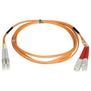 Tripp Lite® 4m Fiber Optic LC Male/SC Male Multimode Duplex Patch Cable, Orange