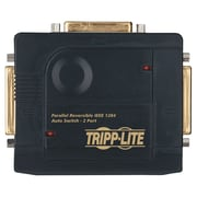 Tripp Lite® 2 Port IEEE-1284 Parallel Printer Auto Sharing Switch, Black