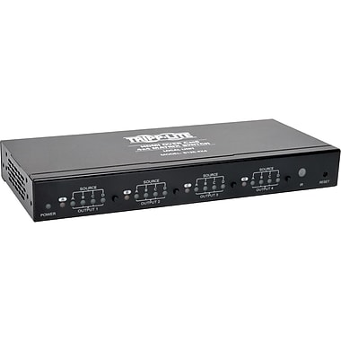 Tripp Lite® HDMI Over Cat5/Cat6 4 x 4 Matrix Extender Switch, Black