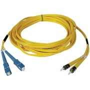 Tripp Lite® 2m Fiber Optic SC Male/ST Male Singlemode Duplex Patch Cable, Yellow