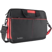 Belkin™ B2B076-C02 13 Messenger Bag, Black/Red