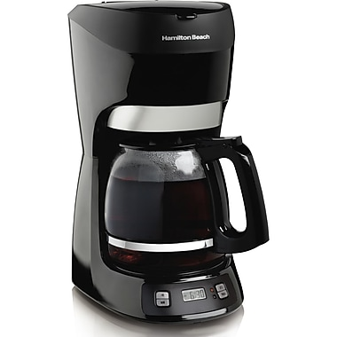 Hamilton Beach® 49467 12 Cup Coffeemaker With Digital Clock, Black