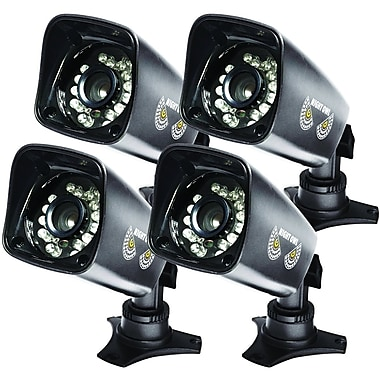 Night Owl CAM-4PK-DM724 Wired Dome Camera with 75 ft. Night Vision, Black