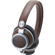 Audio-Technica® ATH-RE700BW High-Fidelity Audiophile Dynamic On Ear Headphone, Brown