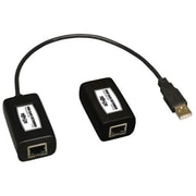 Tripp Lite® USB over Cat5/Cat6 USB A Male/A Female Extender Kit, Black