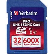 Verbatim 98047 Pro Class 10/UHS I (U3) 32GB SDHC Memory Card