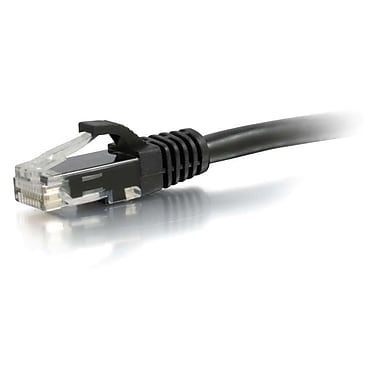 C2G® 12' Cat6 RJ-45 Male/Male Snagless Unshielded UTP Network Patch Cable, Black