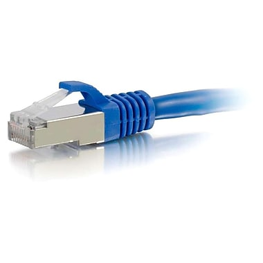 C2G® 7' Cat6a RJ-45 Male/Male Snagless Shielded (STP) Network Patch Cable, Blue