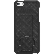 Amzer® Snap-On Case With Kickstand For iPhone 5C, Black