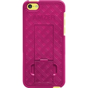 Amzer® Snap-On Case With Kickstand For iPhone 5C, Hot Pink