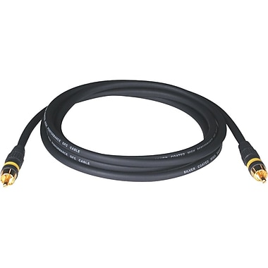 Tripp Lite® 6' Composite RCA Male/Male Video Gold Cable, Black