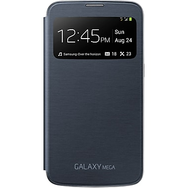Samsung S-View Flip Cover For Galaxy Mega Interactive Touch, Black