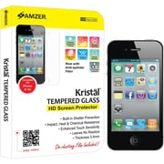 Amzer® Kristal™ Tempered Glass HD Screen Protector For iPhone 4/4S