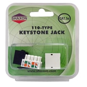 Shaxon Category 5e RJ45/110 568A/B Keystone Jack, Black