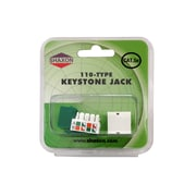 Shaxon Category 5e RJ45/110 568A/B Keystone Jack, Green