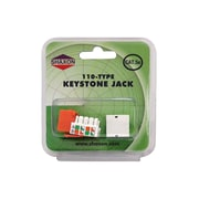 Shaxon Category 5e RJ45/110 568A/B Keystone Jack, Orange