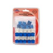 Shaxon Category 6 RJ45/110 568A/B Keystone Jack, Blue, 10/Pack