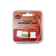 Shaxon Category 6 RJ45/110 568A/B Keystone Jack, White