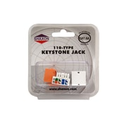 Shaxon Category 6A RJ45/110 568A/B Keystone Jack, Orange