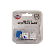 Shaxon Category 6A RJ45/110 568A/B Keystone Jack, Blue