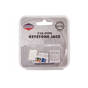 Shaxon Category 6A RJ45/110 568A/B Keystone Jack, White