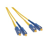 Shaxon 9.8' SC to SC 8.3/125 Single mode Duplex Fiber Optic Patch Cord, Yellow