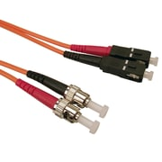 Shaxon 9.8' ST to SC 62.5/125 Multimode Duplex Fiber Optic Patch Cord, Orange
