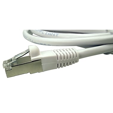 Shaxon 14' Molded Category 6 RJ45/RJ45 Shielded Patch Cord, White