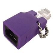 Shaxon CAT6 Gigabit RJ48C Jack And RJ45 Male Loopback Adapter, Purple