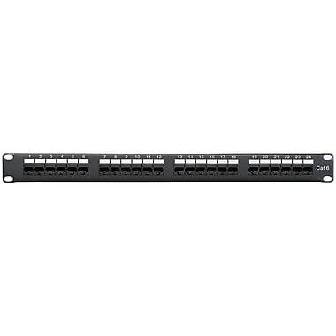 Shaxon Spectrum Plus™ Category 6 1U RJ45/110 24 Port Patch Panel, Black