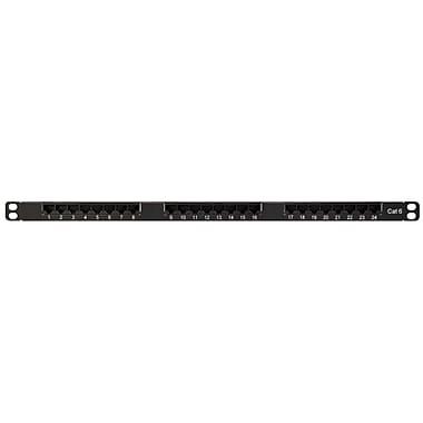 Shaxon Category 6 1/2U RJ45/110 24 Port Ultra High Density Patch Panel, Black