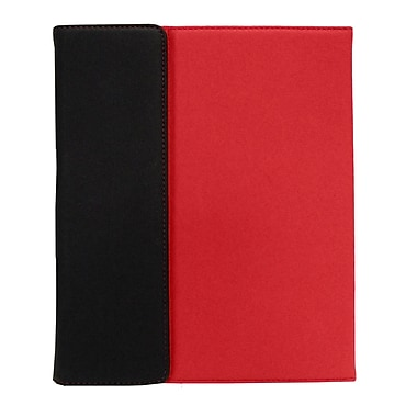 Shaxon SHX-IPC3-RD Folio Case with Velcro Holder for Apple iPad 2, Red/Black