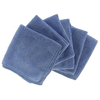 Shaxon 12in. x 12in. Ultra Absorbent Microfiber Cleaning Cloth, Blue, 6/Pack