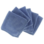 "Shaxon 12"" x 12"" Ultra Absorbent Microfiber Cleaning Cloth, Blue, 6/Pack"
