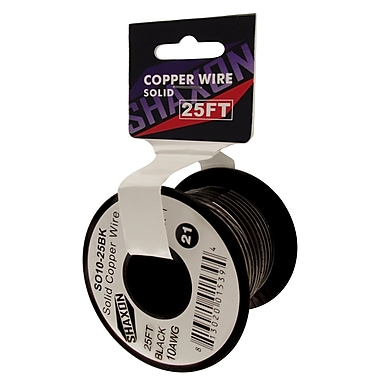 Shaxon 25' Solid Copper 10 AWG Wire On Spools