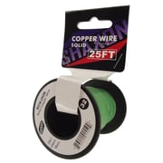 Shaxon 25' Solid Copper 18 AWG Wire On Spool, Green