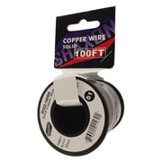 Shaxon 100' Solid Copper 22 AWG Wire On Spool, Black