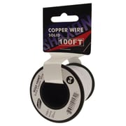 Shaxon 100' Solid Copper 22 AWG Wire On Spool, White