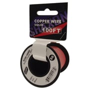 Shaxon 100' Solid Copper 26 AWG Wire On Spool, Red