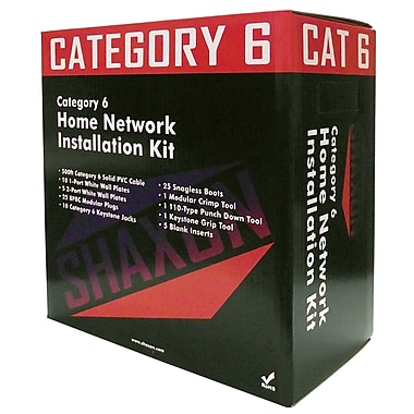 Shaxon Home Networking Kit With 500' Category 6 Cable